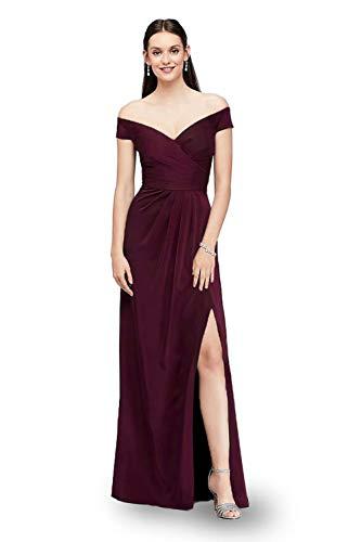 LA ORCHID Laorchid Damen cocktailkleid elegant lang Abendkleid v Ausschnitt Kleid ärmellos ballkleid Vintage Sommerkleid Sexy Partykleid schulterfrei Burgundy L