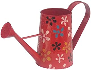Railing Planter Impex 2 litres Hand Painted Metal planters Watering Can - Rust Free Home Decor Gifting, Garden, Gardening,...