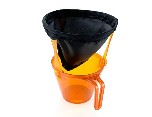 GSI Outdoors Unisex's Ultralight Java Drip Coffee while Camping and Backpacking, Black, 2/#4 Filter Equivalent