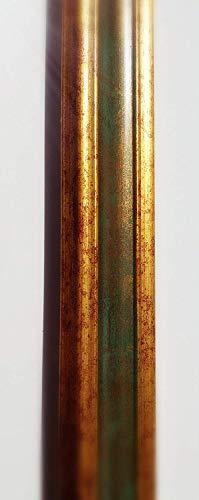 Artecentro - Marco Dorado para Cuadros - Oro/Color con o sin paspartú de Madera - Varios tamaños