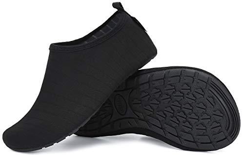 Verano Hombre Zapatos de Buceo Mujer Zapatos de Agua Secado rápido Playa NatacióN Surf Piscina Barefoot Ligeros de Antideslizante Negro