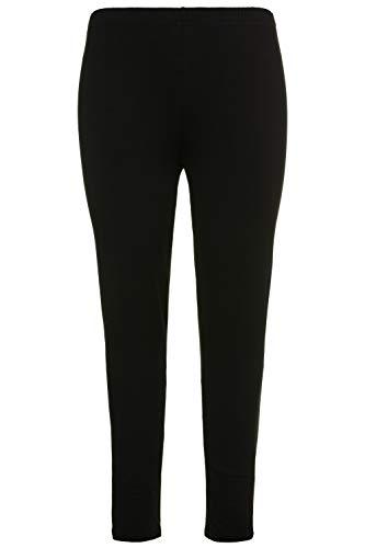 Ulla Popken Damen große Größen bis 76, Leggings aus Reiner Baumwolle, enganliegende Jersey-Hose, Skinny, Rundum-Gummibund schwarz 46/48...