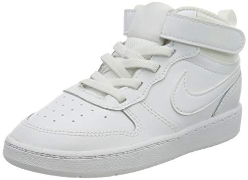 Nike Unisex Baby Court Borough Mid 2 (TDV) Sneaker, White/White-White, 23.5 EU
