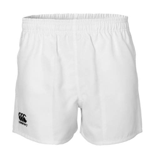 Canterbury Professional Rugby Shorts, Herren Jungen Damen, weiß, 26-Inch