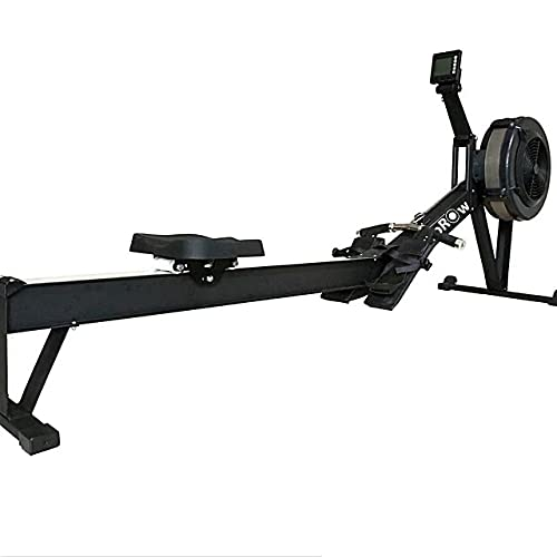 EliteTopRow Air Rowing Machine – Rower Exercise Machine for Full Body Home Workout – Foldable Rowing Machine with LCD Performance Monitor Display, Flywheel Home Gym Exercise Equipment