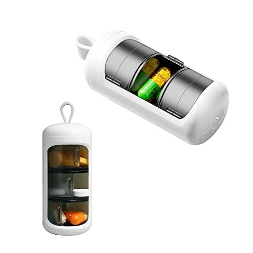 Pillendoosje, 3 Compartimenten Pillendoos Lichtdichte, 3 Keer per Dag Tablets Organizer Draagbare voor Dagelijks Reizen…
