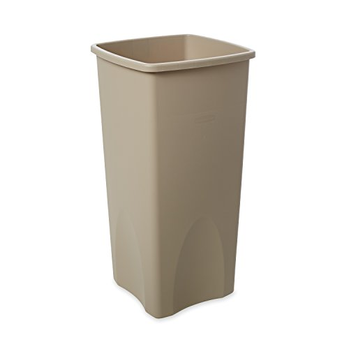 Save %44 Now! Rubbermaid Commercial Products Untouchable Square Trash/Garbage Can, Beige (FG356988BE...