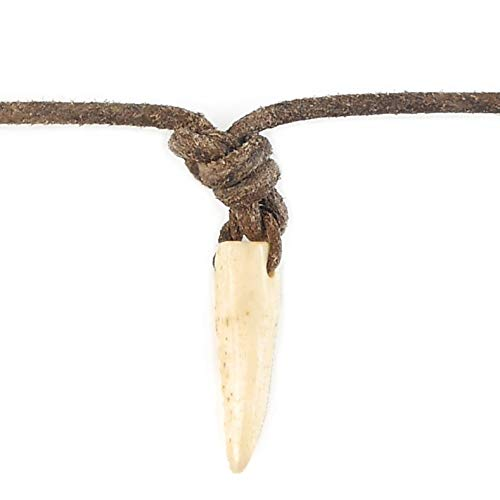 Local League Australia Mens Ivory TUSK Pendant Adjustable Necklace Distressed Leather Cord Tooth Claw Man String Surfing Beach Boys Choker Holidays Party Gift