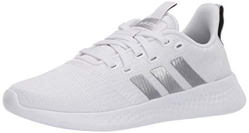 adidas Women's Puremotion Running Shoe, White/Silver/Grey, 5