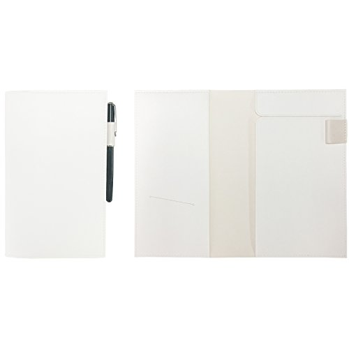 ジブン手帳 カバー A5スリム対応 PVCレザー ホワイト