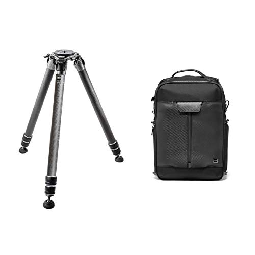 Gitzo Systematic GT5533LS Series 5 3-Section Carbon Fiber Tripod, 88 lbs Capacity, 57' Max Height, Long Century Traveler Backpack for DSLR Camera