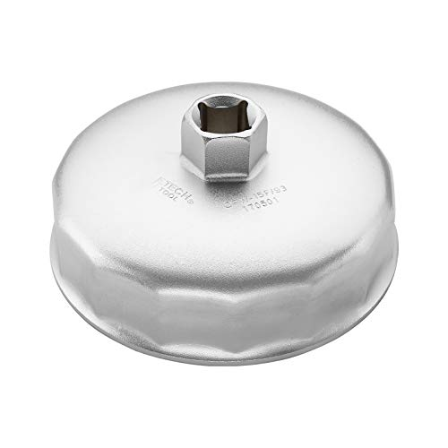 Jetech Oil Filter Cap Wrench 93mm x 15 Flute, Cartridge Type Socket Removal Tool with 15 Flutes and 93mm Inner Diameter compatible with Toyota, Chrysler