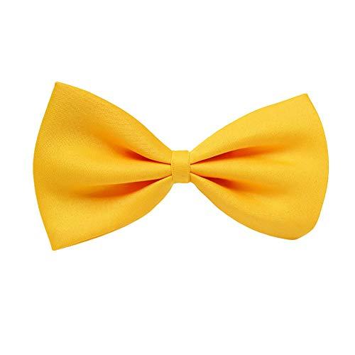dontdo Corbata de bebé para niños, de color sólido, ajustable, para fiestas, color amarillo