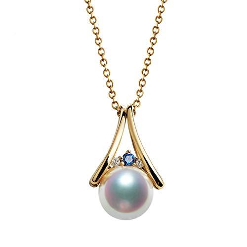 AmDxD oro amarillo 18 quilates (750) round-shape White Blue Pearl