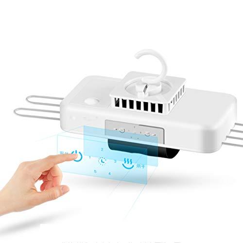Yhz@ Coco Portable Mini Falttrockner, Keine Notwendigkeit, schnell trocknende Kleidung multidimensionale Kleiderbügel, mit Thermostat und Timer 380w, weiß Mute zu installieren Mobile Dryer