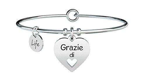 KIDULT LIFE LOVE BRACCIALE ACCIAIO 316L - CUORE | GRAZIE 731298