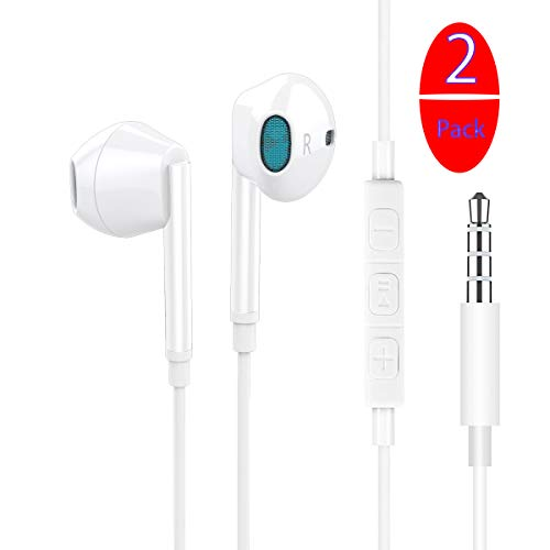 2 Pack In-Ear Headphones,Wired E...