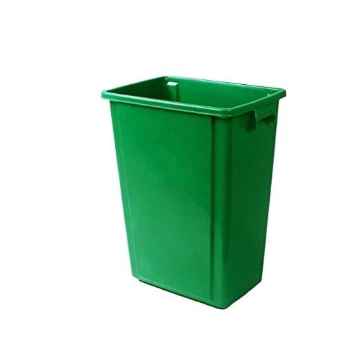 MLOZS Mülleimer stilvoller und dauerhafter 60-Liter-Mülleimer, mehrfache Farbe Verdicken im Freien ohne Abdeckung Multifunktionsmüll Can Can Can Can Can Can Can Can Can Mit Deckel