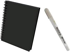 WHITE PEN & BLACK PAD A5_SKETCH SET.