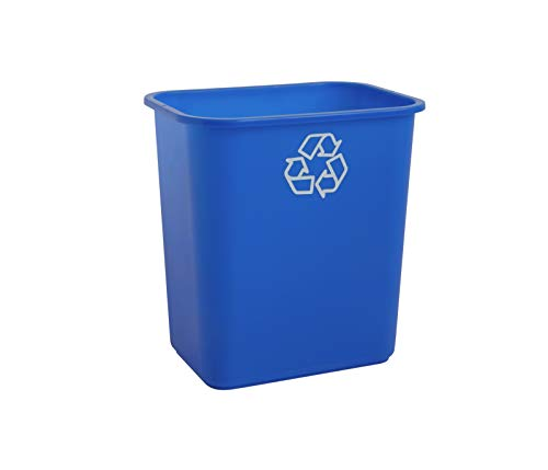 United Solutions WB0084 Recycle Wastebasket 1 Pack Blue