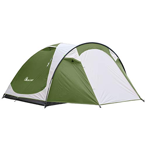 MOON LENCE Outdoor Camping Tent 3 to 4 Person Tent with Screen Room Double Doors & Double Layer Waterproof Design 2000MM