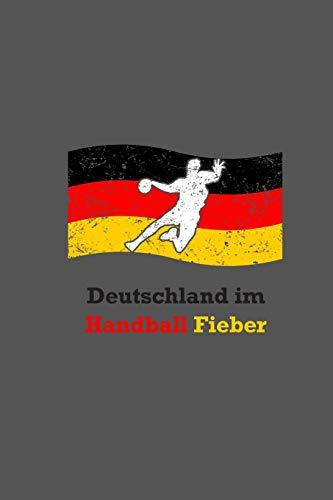 Deutschland Im Handball Fieber: Handballer Punktraster A5 Notizbuch   Handball Nationalmannschaft Notizheft   Geschenkidee Handballspieler & Handballspielerinnen