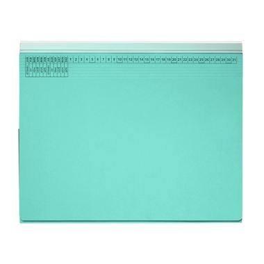 Preisvergleich Produktbild Hängehefter 9039780 263, 5x31, 6cm Rechtsheftung 320g Karton hellblau