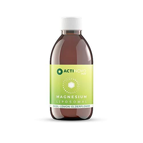 Magnesium liposomal | Basilikum, Zitrone & Holunder 250 ml PLUS | hochdosiert | Muskeln & Psyche | Tagesdosis 200 mg Magnesium | hohe Bioverfügbarkeit | flüssig | ohne Zusätze | vegan