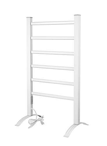 Heat Rails PA002T Towel Warmer Drying Rack with Timer, Brushed Chrome Color