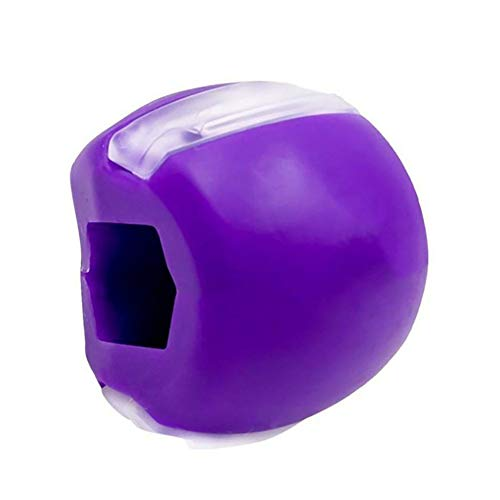 Hoqiang Jaw Exerciser and Neck Facial Tone Define Jawline Ball, Tone Define Jaw line Jawline Exercise,Jaw Shaper Neck Toning Face Exerciser Jaw Facial Toner Facial Beauty Tool (Purple)