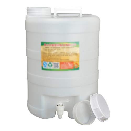 MNSSRN Barril de plástico de Grado alimenticio 20l, Grifo con Tapa, Barril de fermentación, Barril de Aceite de plástico Engrosado con Tapa, Barril de plástico de Gran Capacidad
