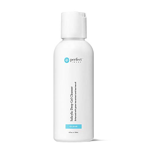 Salicylic Acid Deep Exfoliating Gel Based Cleanser, Professionally Formulated Salicylic Acid Peel Peel Prep Cleanser, Enhanced with Tea Tree Oil and Green Tea Extract - Perfect Image