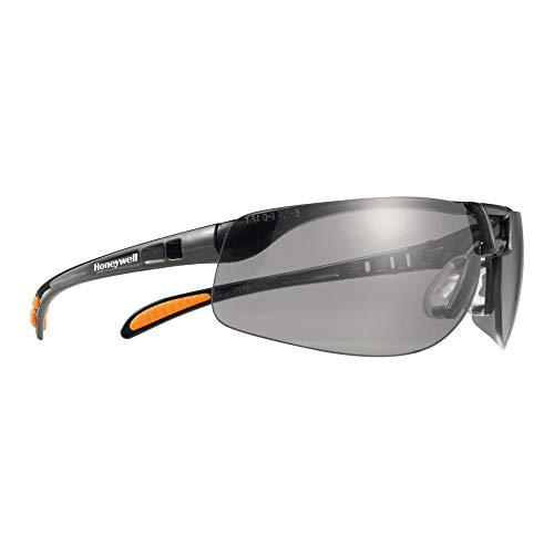 Honeywell 403241 Pulsafe Protégé Schutzbrille, TSR Grau Sichtscheibe, Schwarzmetallic Rahmen, 10 Stück