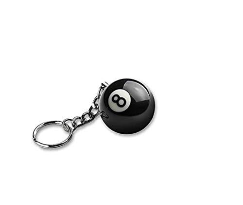 Aisy Ice Das Original 8 Ball Eight Ball Die Schwarze 8 Kugel als Schlüssel Anhänger und Ohrringe als Geschenk