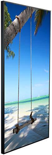 Ecowelle Infrarotheizung mit Bild | 1200 Watt | 120x60x2cm | Infrarot Heizung| | Made in Germany| d 3 Schaukel am Meer
