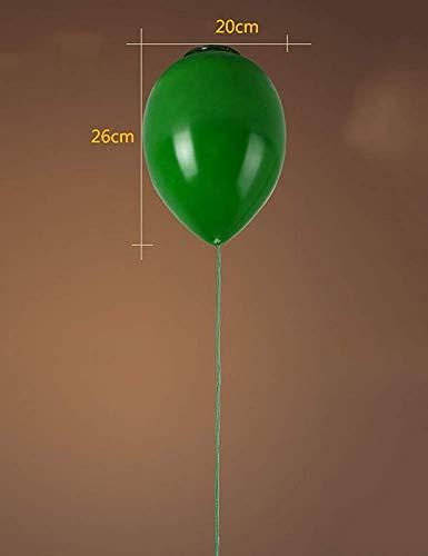 Plafondlamp Shop creatieve persoonlijkheid glazen scherm kleur ballon woonkamer slaapkamer kinderkamer ingang balkon energiebesparend (kleur: 2, grootte: 15cm)
