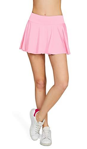 Westkun Damen Tennisrock Skirt Minirock Sport Fitness Yoga Skort