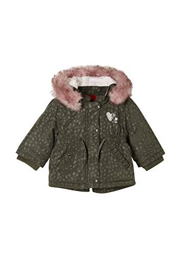 s.Oliver Unisex - Baby Parka mit warmer Wattierung khaki AOP 92
