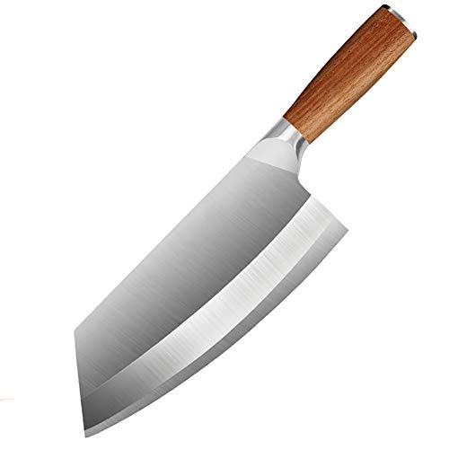 hj Macheta Cocina Cuchillo de Cocina Chino, Macheta Cocina Súper Hoja Afilada Hachas de Cocina Cuchillos de Cocina China Carne Pescado Verduras Cuchillo de Carnicero