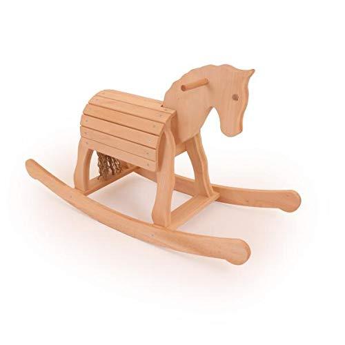 Schaukelpferd aus Holz | Holz-Schaukelpferd | Kinder-Schaukelpferd | Mini-Schaukel-Voltipferd 7020