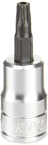 京都機械工具(KTC) 9.5mm (3/8インチ) ショートT型 いじり止め トルクス ビットソケット T30 BT3T30HS