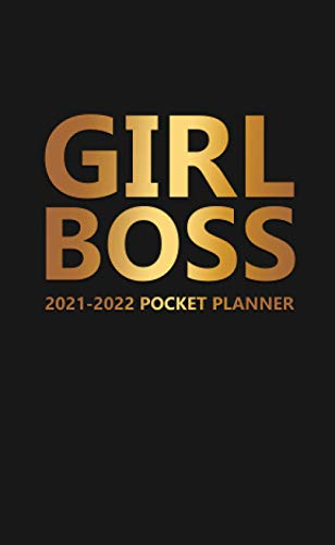 Compare Textbook Prices for Girl Boss 2021-2022 Pocket Planner: Inspiring Fire Gold & Black 2 Year Organizer with Monthly Spread View - Motivational Two Year Schedule Agenda, Calendar & Journal with To-Do's, Vision Boards & More  ISBN 9798690588601 by Planners, Creative