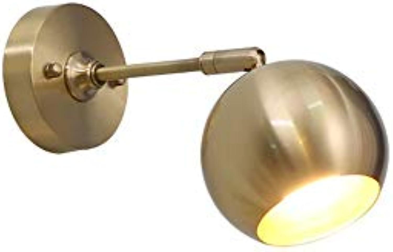 SiwuxieLamp Wandleuchte Antike nordische Kupfer Gold Wandleuchten, Schlafzimmer verstellbare LED s, Wohn-   Schlafzimmer Esszimmer   Balkon Flur   Gang Wandlampen Halterung Licht