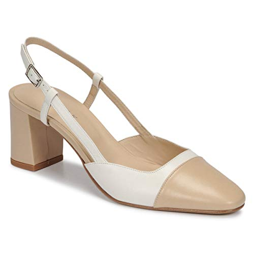 JONAK Dhapop Pumps Damen Beige/Weiss - 39 - Pumps Shoes