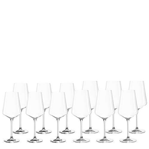 LEONARDO HOME Set 12 Rot- und Weißweingläser Puccini, Teqton-Kristallglas, spülmaschinenfest