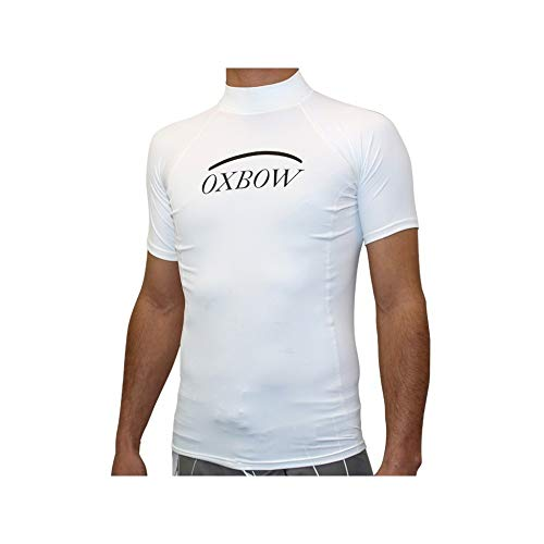 OxbOw Betel Top de Sport Manches Courtes Homme, Blanc, FR (Taille Fabricant : XXL)