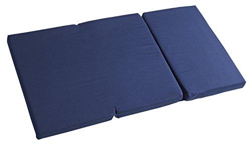 roba Matelas de voyage, matelas de voyage, matelas pliant avec sac, pliable en deux, couleur bleu marine, ouvert 120x60x5,5cm, fermé 40x60cm.