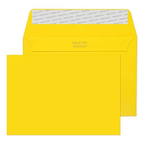 Creative Colour 103 Briefumschläge Haftklebung Bananen Gelb C6 114 x 162 mm - 120g/m² | 500 Stück