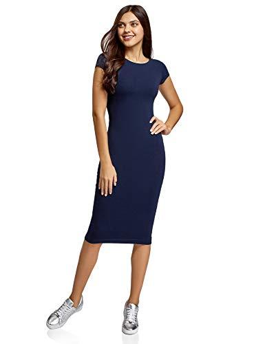oodji Collection Mujer Vestido Midi (Pack de 3), Azul, ES 38 / S