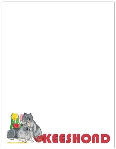 Animal Free shipping anywhere in the nation Theme Gifts Keeshond Large Set Stationery latest